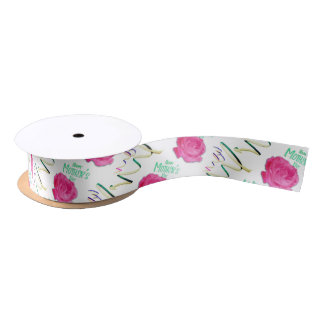 Mother's Day Rose and Confetti Satin Ribbon