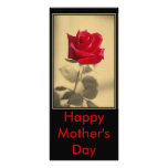 Mother's Day Rose Custom Rack Cards