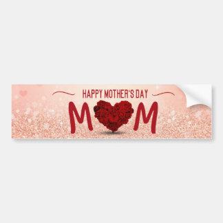 Mother's Day Rose Heart Bouquet - Bumper Sticker