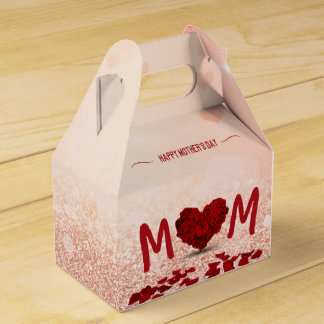 Mother's Day Rose Heart Bouquet - Favor Box Gable