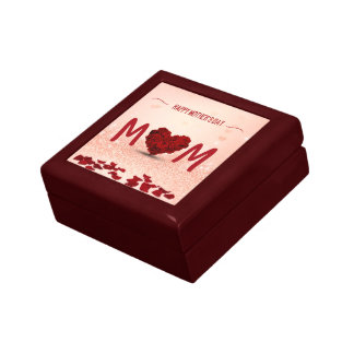 Mother's Day Rose Heart Bouquet - Tile Gift Box