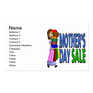 Mothers Day Sale Pack Of Standard Business Cards