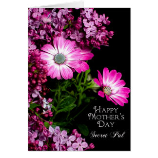 Mother's Day - Secret Pal - Fuchsia Flowers Greeting Card