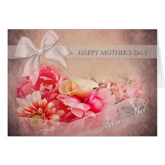 Mother's Day -  Secret Pal - Pink Flowers Greeting Card