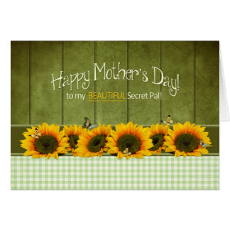 Mother's Day - Secret Pal - Sunflowers Card