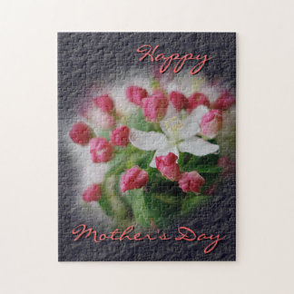 Mother's Day Steel Blue Crinkle Look Jigsaw Puzzle