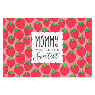 Mother's Day Sweetest Mom Strawberries Tissue Paper