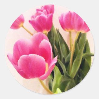 Mother's Day Tulips Round Sticker
