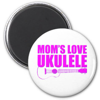 mother's day ukulele 2 inch round magnet