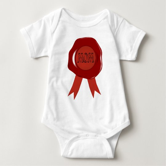 Mothers Day Wax Stamp Baby Bodysuit