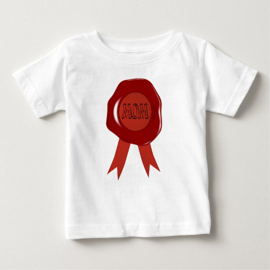 Mothers Day Wax Stamp Baby T-Shirt