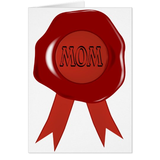 Mothers Day Wax Stamp Card