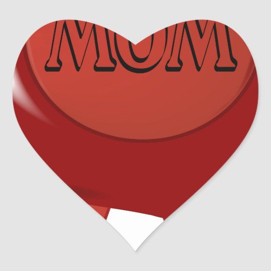 Mothers Day Wax Stamp Heart Sticker