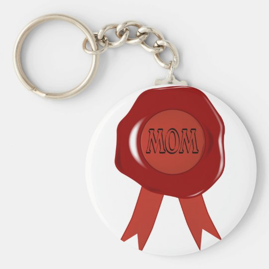 Mothers Day Wax Stamp Keychain