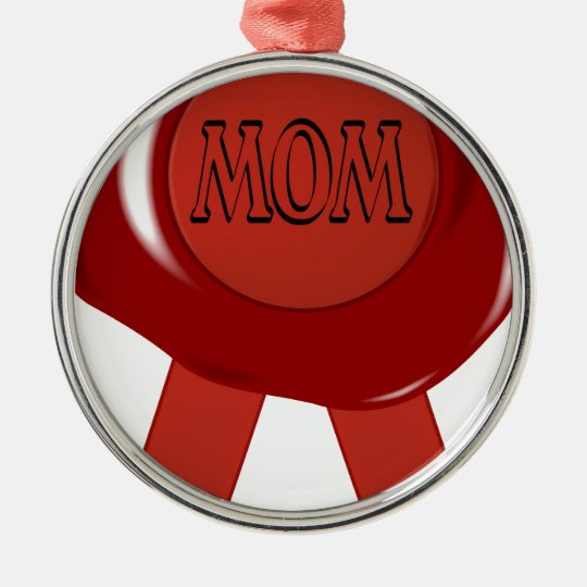 Mothers Day Wax Stamp Metal Ornament