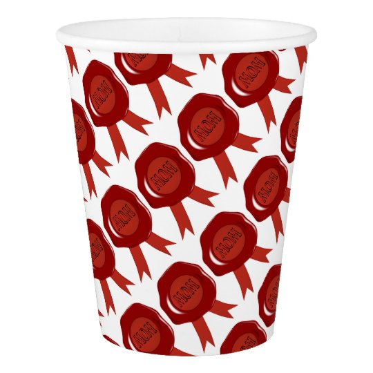 Mothers Day Wax Stamp Paper Cup