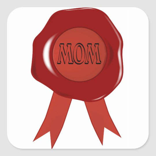 Mothers Day Wax Stamp Square Sticker