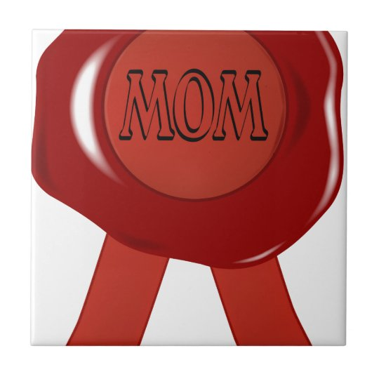 Mothers Day Wax Stamp Tile