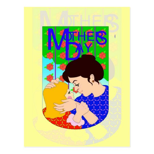 Mother's Day With Child Postcard
