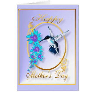 Mother's Day with humming birds Stationery Note Card