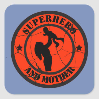 Mothers days square sticker