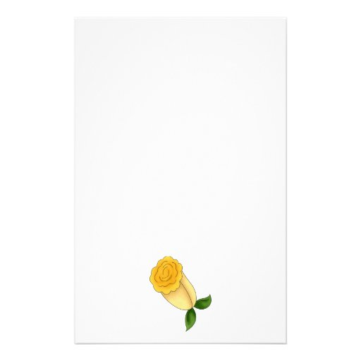 Mother's Flowers · Yellow Rose Stationery