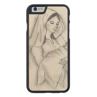 Mothers Love Carved Maple iPhone 6 Case