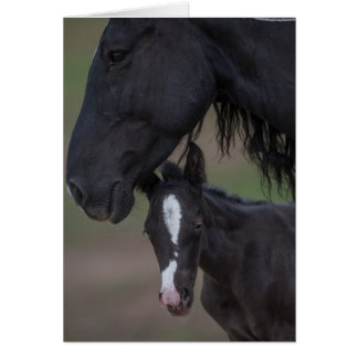 Mother's Love - Galloping to Freedom Greeting Card