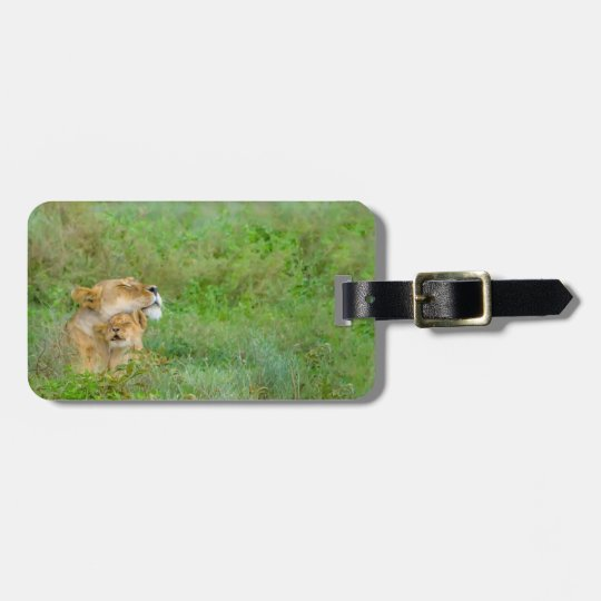 Mother's Love Lioness & Baby Luggage Tag
