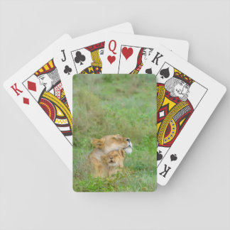 Mother's Love Lioness & Baby Playing Cards