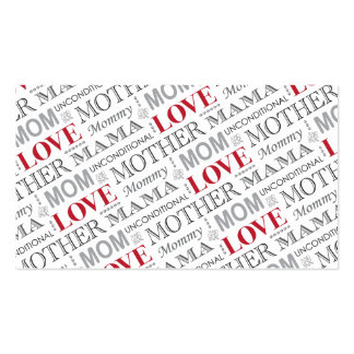 Mother's Love, Mother's Day or Birthday Pattern Business Card Template