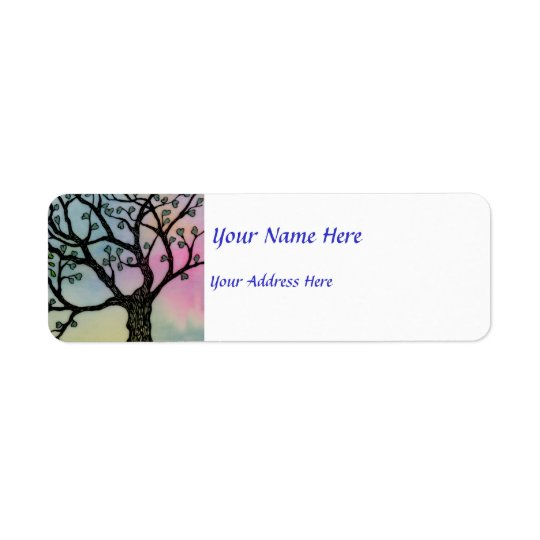Mother's Love - Trees on Vellum and Watercolor Return Address Label