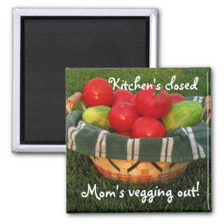 Mother's Magnet--Mom Kitchen Magnet, Mother's Day Square Magnet
