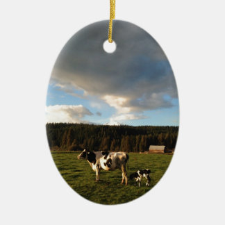 Mothers Milk in the Mountain Meadows Ceramic Ornament