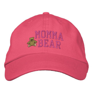 Mothers Momma Bear Embroidered Hat