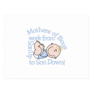 Mothers Of Boys Postcard