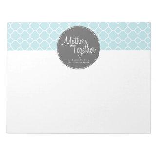 Mothers Together Grey Logo Large Notepad