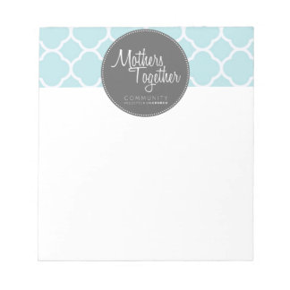 Mothers Together Grey Logo Small Notepad