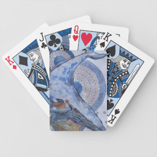 Mothersday whale bicycle playing cards