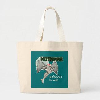 Mothman Believes in Me!   Point Pleasant, WV Large Tote Bag