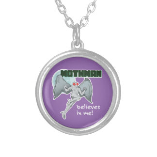 Mothman Believes in Me! | Point Pleasant, WV Silver Plated Necklace