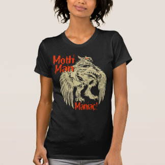 Mothman Maniac in Black T-Shirt