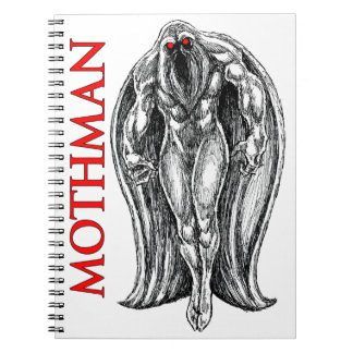 Mothman Spiral Notebook
