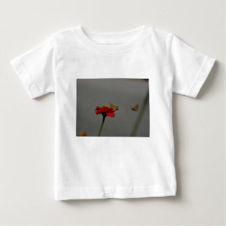 Moths and Red Zinnia Baby T-Shirt