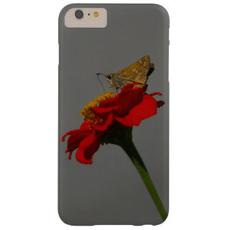 Moths and Red Zinnia Barely There iPhone 6 Plus Case