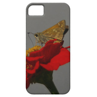Moths and Red Zinnia Case For The iPhone 5