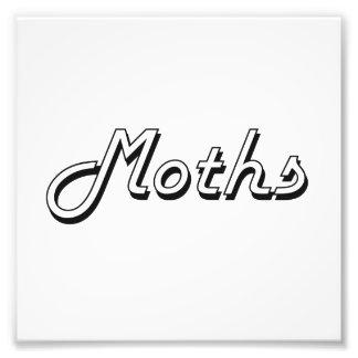 Moths Classic Retro Design Photographic Print