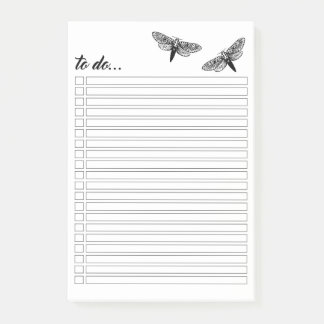 Moths To Do List Post-it® Notes