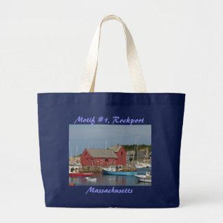 Motif #1 Blue Boat Tote Jumbo Tote Bag