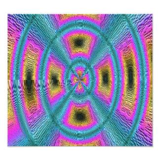 Motif à la mode abstrait de carré de cercle photographie